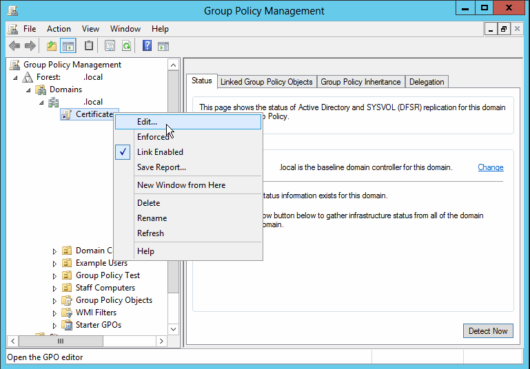 Deploy self-signed Exchange certificate to PCs